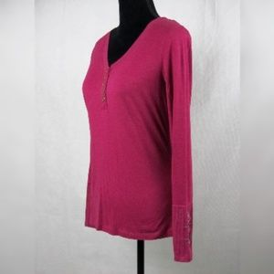 Tops - prAna Pink Heather Medium L/S shirt top